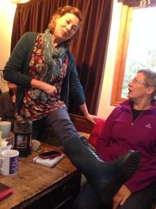 Julia's boots
